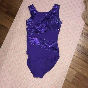 Purple dance leotard